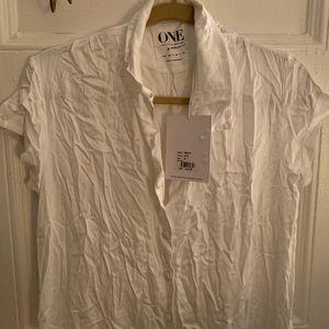 One Teaspoon White Shirt Dress